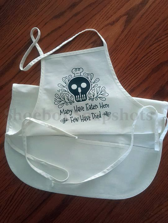 Funny Aprons, Sugar Skull, Aprons for Women, Aprons for Men,  Cooking Gifts, Bib Aprons, Gifts for Women, Gifts for Men, Wedding Shower, by ShoeBoxSnapShots on Etsy