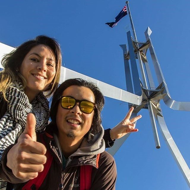 """At the start of the year, with help from our fans and followers, we put together list of things everyone has to see, do, taste, try and experience in Canberra. One of the first experiences to make the #CBRbucketlist was to take a """"selfie under Parliament House's Australian flag"""" just like @thetravelleur did! In the exact centre of the roof of Parliament House flies an Australian flag roughly the size of a double-decker bus. #visitcanberra"""