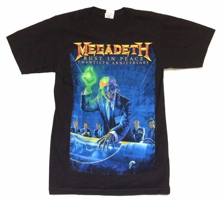 >> Click to Buy << Megadeth Rust In Peace 20th Anniv 2010 Tour Black T Shirt SMALL New Official NOS Sleeve Tee Shirt Homme T-shirt Top Tees #Affiliate