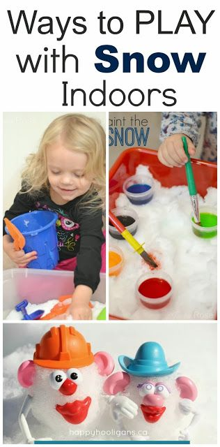 snow indoors Preschool Winter Activities