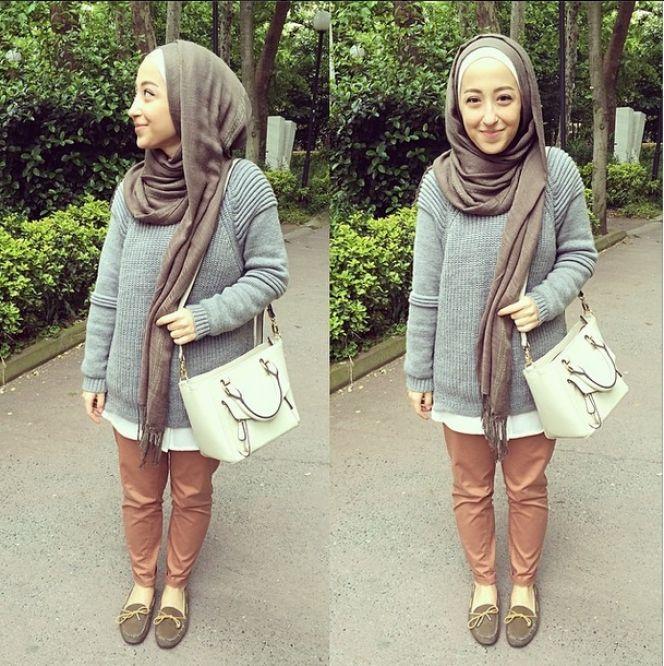 Gaya Modis Natural Hijaber Turki | Hijab style | Pinterest