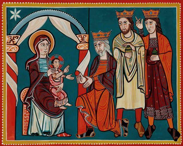 Arte para niños: Pintura al fresco en época románica
