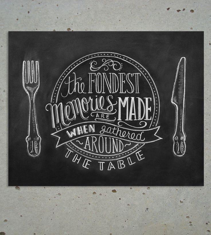 Fondest Memories Chalkboard Art Print   Art Prints   Lily & Val   Scoutmob Shoppe   Product Detail