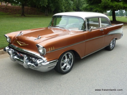 1957 chevy bel air. only mine had four doors.