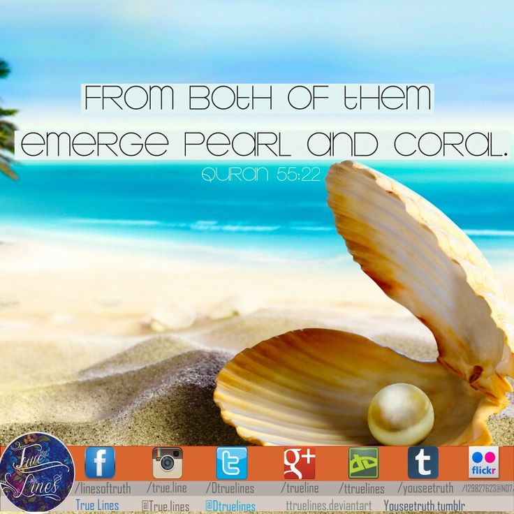 From both of then emerge pearl and coral. #reminder #quotes #quran #beauty #artwork