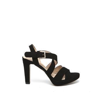 Manfield - zwarte sandalen