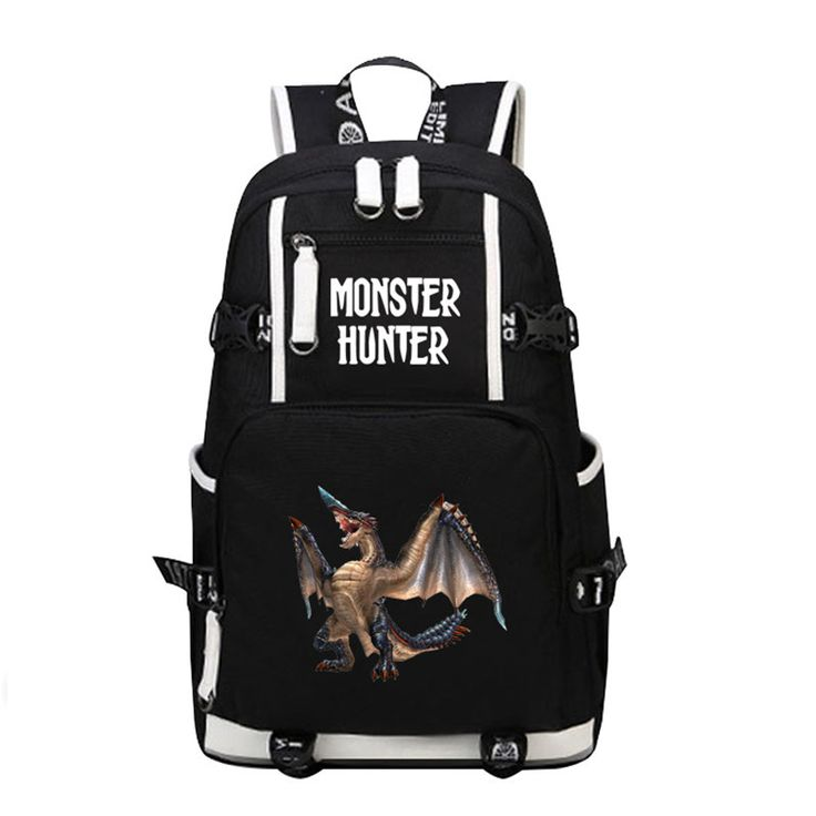==> [Free Shipping] Buy Best 2017 New Anime Game Monster Hunter World Dinosaur Laptop Backpack Bags Printing Unisex School Bags Bookbag Travel Bags Online with LOWEST Price | 32818172338