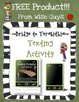 FREE Bridge to Terabithia Text Messaging Comprehension Activity