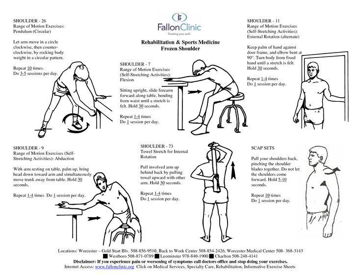 adhesive capsulitis exercises - Google Search