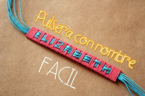pulseras con tu propio nombre!:)