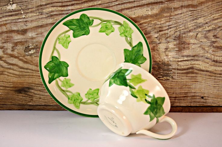 Franciscan Ware Ivy Cup and Saucer Set Made by FindsFromYesteryear