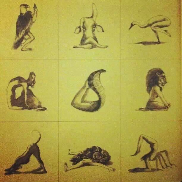 Beautiful rendition of some #yoga poses. Loved and pinned by www.evolationyoga.com