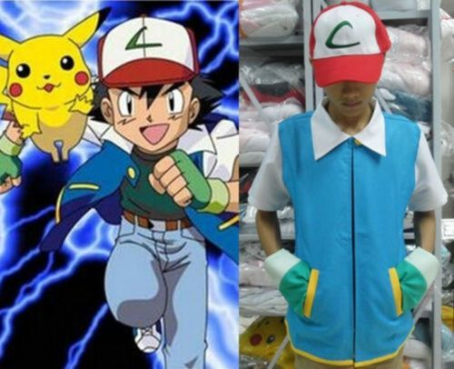 Uk stock #pokemon ash ketchum trainer costume shirt jacket #gloves+hat #+ball 4 s, View more on the LINK: http://www.zeppy.io/product/gb/2/131324503481/