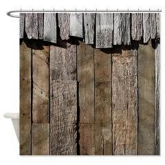 Rustic Old Barn Wood Shower Curtain> Coastal, Vintage and Urban Chic Shower Curtains> Rebecca Korpita Coastal Design