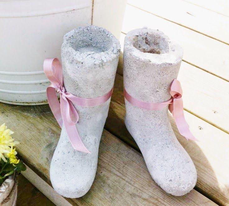 Perleblomen: Sement støvler :)