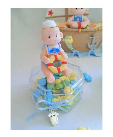 NAUTICAL PARTY FAVOR. sailor  party favor candy box. .baby shower cake topper.baby party favor. baby boy party favor.