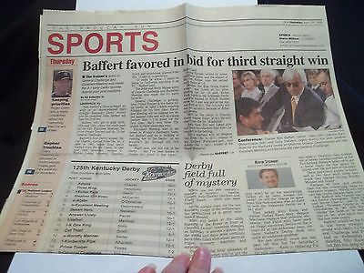 125th Kentucky Derby Post Positions & Odds Sports Page Paducah Sun Newspaper