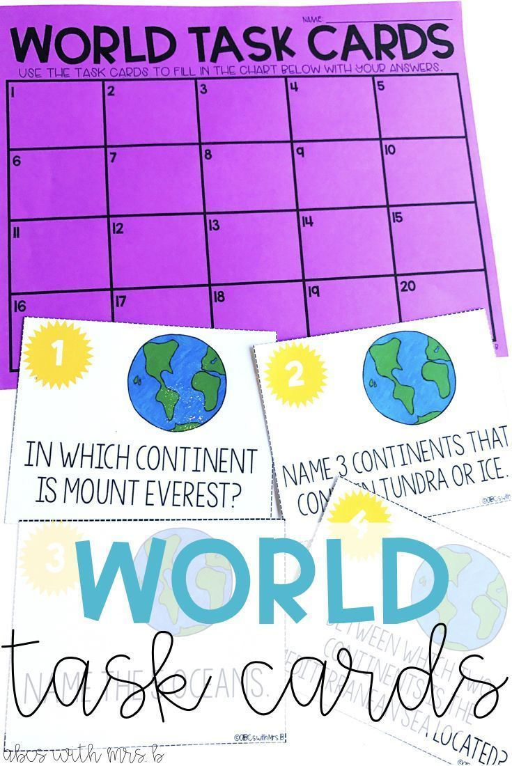 I wanted to give my students time to explore maps as I was teaching world geography, so I created these task cards to supplement my lessons! The kids loved getting their hands on the maps to learn where things are in the world!