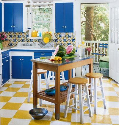 26 Best Images About Blue And Yellow Kitchen On Pinterest