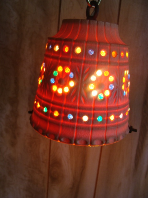 Vintage Lawnware Funky Retro RV Tiki Patio Swag Lamp Light ...