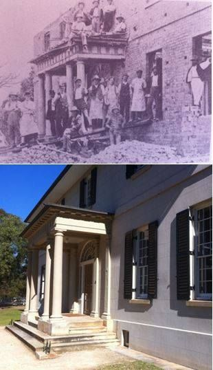 THEN: 1909 - rather than demolish the old 1818 Government House at Parramatta, (as was considered) it was restored (photo not sourced - on display at location) NOW: 2017 - restored to its former glory, the Old Government House at Parramatta is now 1 of 11 Australian Convict sites inscribed on UNESCO's World Heritage List (Les de Belin's photo 29/7/2017). By Les de Belin