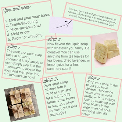 homemade soap for mothers day