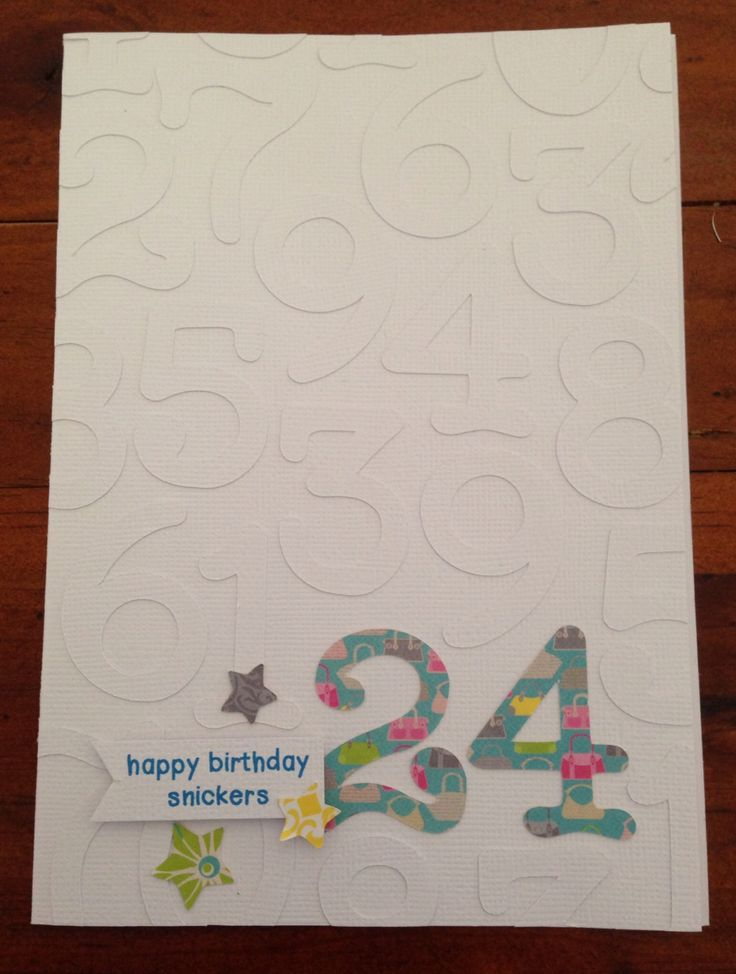 Number Birthday Card