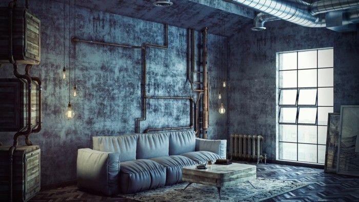 #Wohnzimmer Wohnzimmerlampe Im Industriellen Stil U2013 50 Ideen, Wie Sie  Industrielampen In Szene Setzen