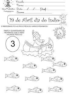 """"""" Meus Trabalhos Pedagógicos """": Atividades para o dia do ìndio"""