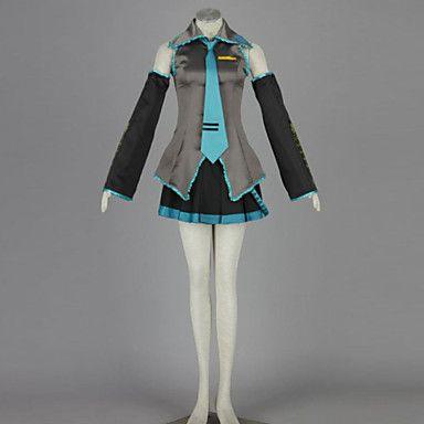 Disfraces Cosplay - Vocaloid - de Hatsune Miku - Blusa / Falda / Corbata / Manga / Accesorios de Cintura / Medias de Lencería - 4501831 2016 – $1,271.41