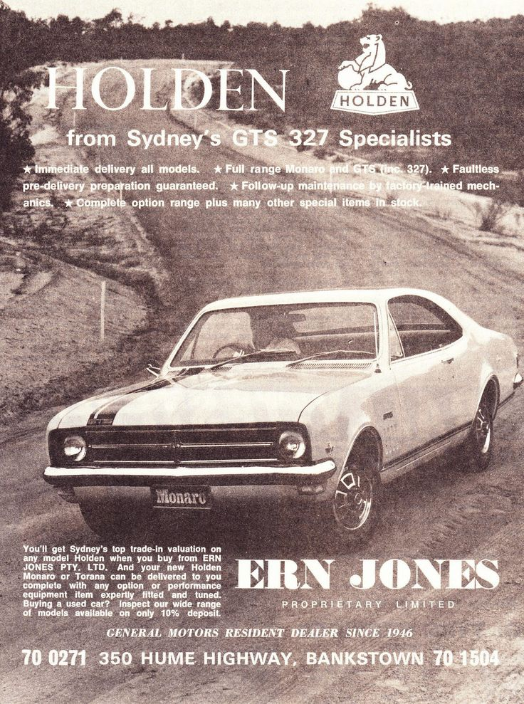 https://flic.kr/p/YBRcvu | 1968 Ern Jones Holden