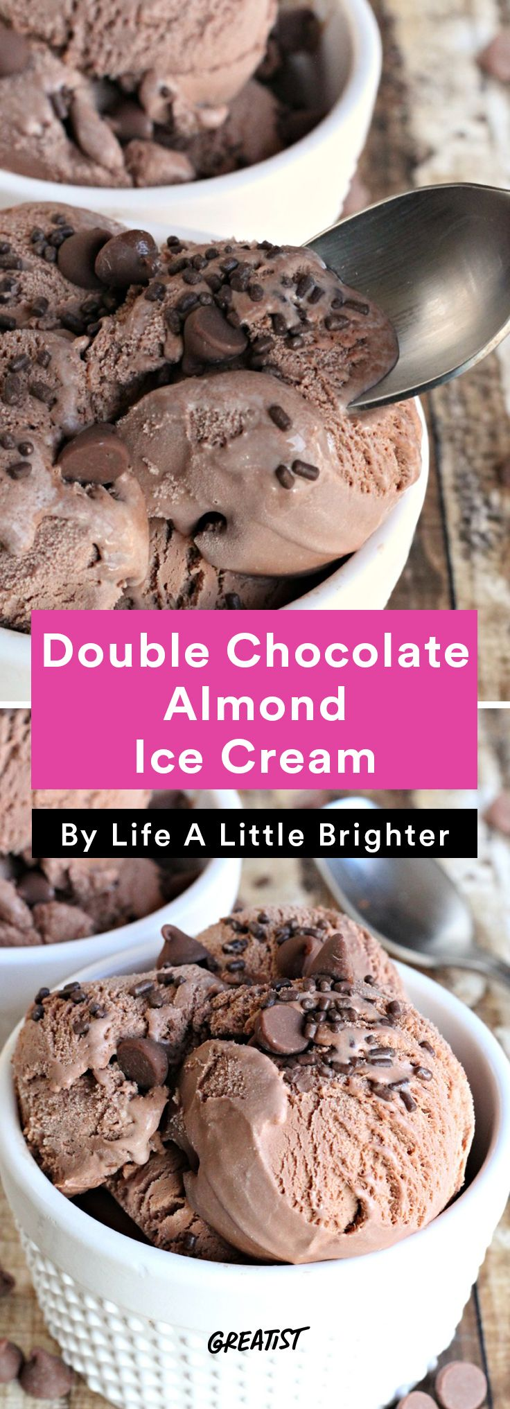 3. Double Chocolate Almond Ice Cream #icecream #recipes https://greatist.com/eat/ice-cream-recipes-that-dont-require-fancy-equipment