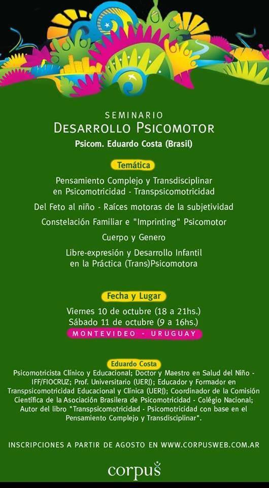 Seminário em Montevidéu - 10 e 11/10/2014
