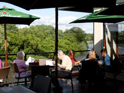 Stillwaters Plate and Pour  Excellent food, great location overlooking the Grand River in Paris, Ontario