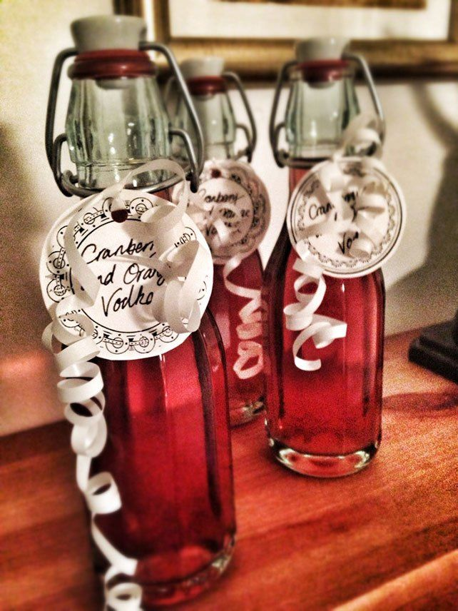 Cranberry orange vodka