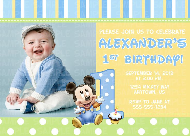20 best 1st birthday Joshi images – Baby Mickey Mouse 1st Birthday Invitations