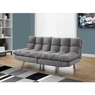 Shop for Monarch Click Clack Light Grey Microsuede Split-back Futon. Get free shipping at Overstock.com - Your Online Furniture Outlet Store! Get 5% in rewards with Club O!