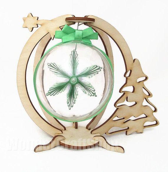 christmas ball star ornament holiday decoration by WonderCraftShop