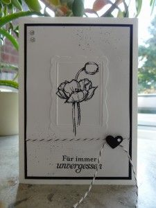 Trauerkarten, geprägter Bilderrahmen