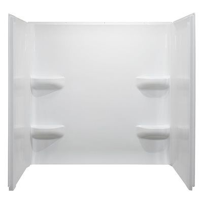 Style Selections 32-in x 60-in Elegance White Acrylic Bathtub Wall Surround