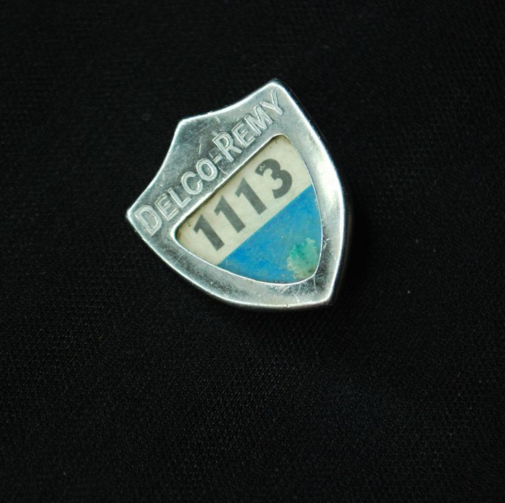 Delco Remy Plant Employee Security Badge #1113 - Anderson, IN - General Motors