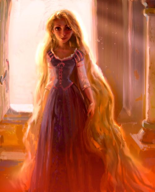 • Illustration art tangled disney painting Rapunzel Walt Disney concept art Witch Jin Kim Crosswob theartofanimation •One word...WOAH