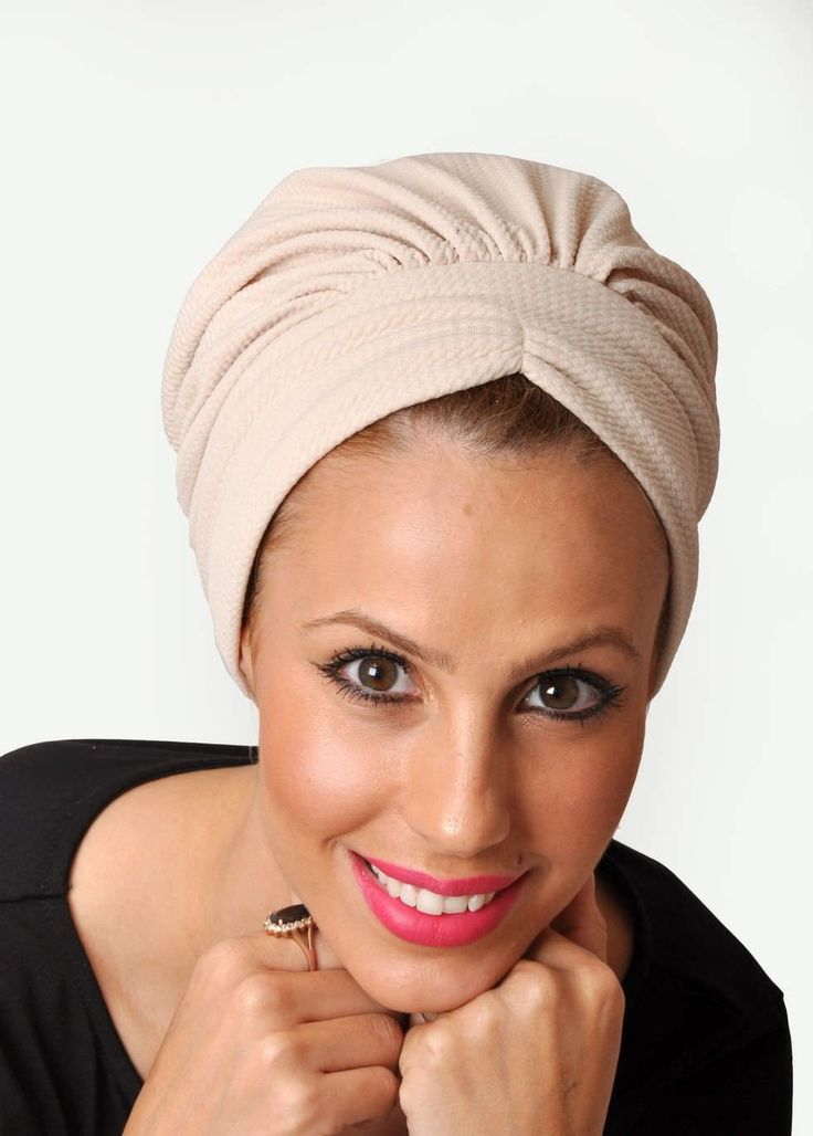B-Chic headscarf in  padded  material, very easy to wear. No tying required. A headband or jewel can be added to the base. Very elegant and chic for everyday use, and you can have a new look with each headband you choose to wear! The scarf is worn on t
