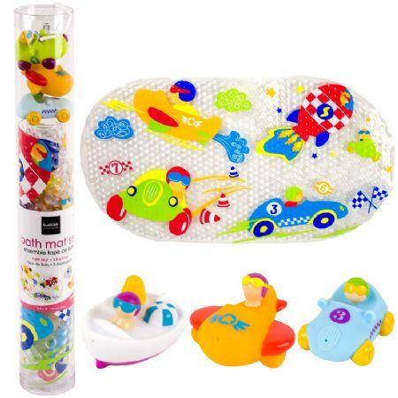 Kushies Bath Mat and Squirter Set - Keep tub time both safe and fun with Kushies Bath Mat & Squirter Set!