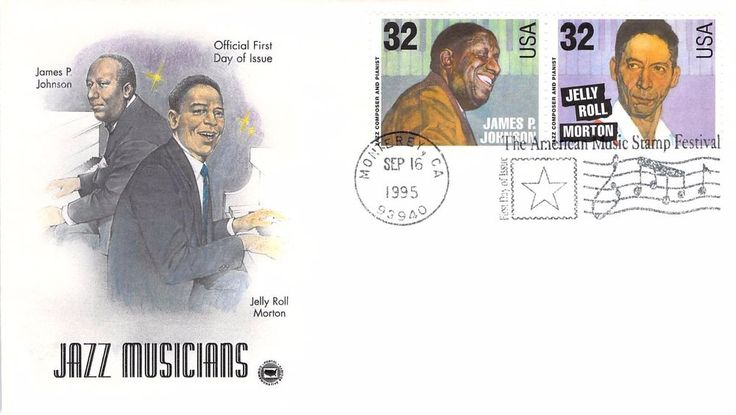 1995 Jazz Musicians Hand Colored PCS First Day Cover