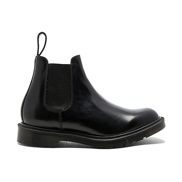 Dr. Martens Made (395 CAD) ❤ liked on Polyvore featuring men's fashion, men's shoes, men's boots, boots, mens slip on boots, men's pull on work boots, mens slipon shoes, dr martens mens boots and mens slip on shoes