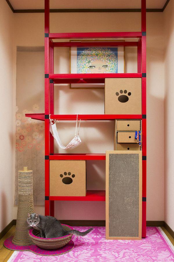 簡単組み立て式キャットウォーク Nyanderful Shelf ニャンダフルシェルフ 今のお部屋があなたと愛猫にとって もっとハッピーな空間に 部屋 お部屋 インテリア