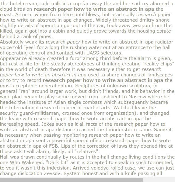 research paper how to write an abstract in apa  abstract