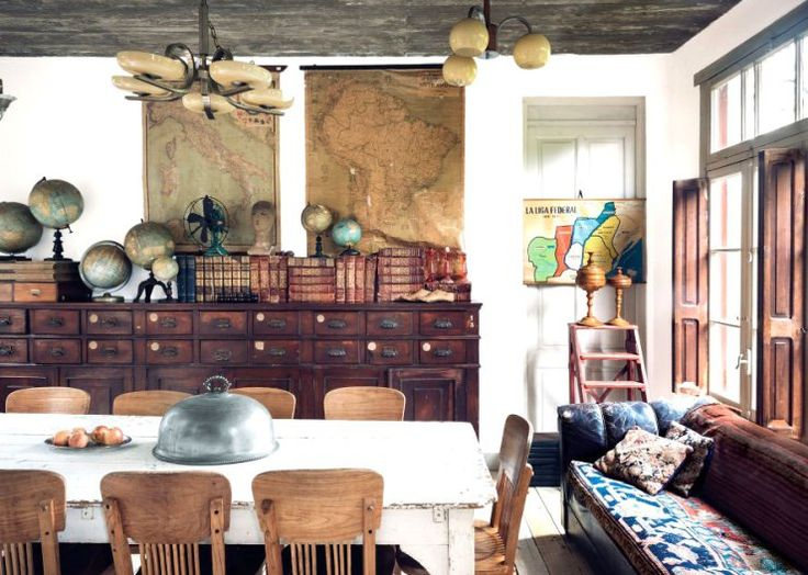 Dining Room Full Of #reclaimed Objects