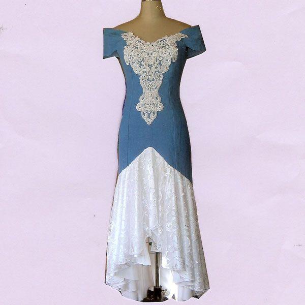 Denim Wedding Gown: Country, Western, Old West Wedding